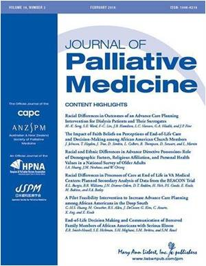 Planning for Palliative and End-of-life Care Among African-Americans