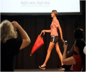 Fashion Show by Sex Workers to Fight Against AIDS