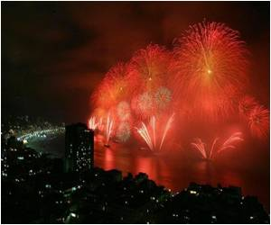 'Green' Fireworks in Rio