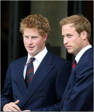 William, Harry in Support of AIDS Charity