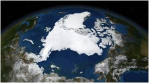While Antarctic Grows Arctic Sea Ice Shrinks