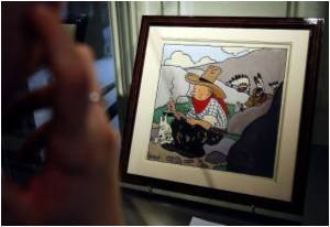 Original Tintin Comic Strip Fetches 2 Million Euros at Auction