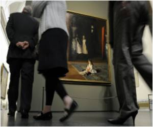 Pakistani Qureshi's Rome Exhibition Showcases Artist's Infamous Flowers of Blood