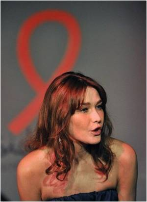 First Lady of France Carla Bruni-Sarkozy on AIDS Trip to West Africa