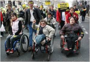 Disabled People in France Protest Against Pension Reforms