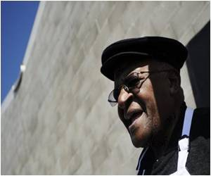 Noble Laureate Tutu Hails S.Africa's Turnaround on AIDS