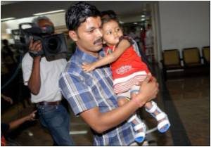 Eight Limbed Indian Girl Who Underwent Successful Surgery Leaves for Home