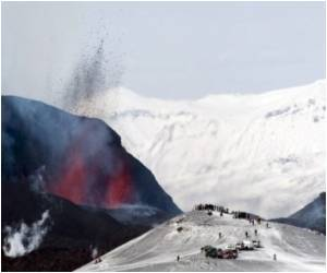 Icelandic Volcano Attracts Daring Tourists