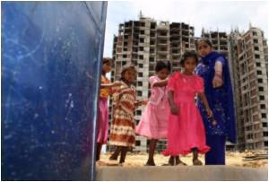 Indian Construction Workers' Kids Lack Home Comforts