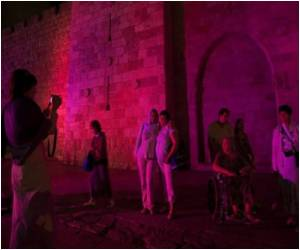 Jerusalem's Old City Turns Pink For Breast Cancer Awareness