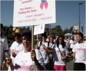 March on Jerusalem's Old City by Breast Cancer Activists