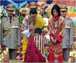 Bhutan's Royal Couple Greeted By Jubilant Crowds
