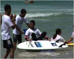 Handicapped Take to Surfing in Rio
