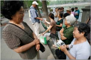 Parental Match-making Blossoms in a Beijing Park