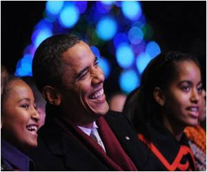 2011 National Christmas Tree Lit by Obama