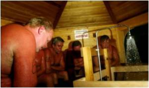 Finns Get a Break from Stress in Saunas