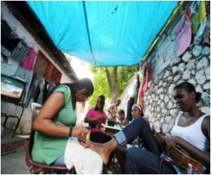 Tent Cities in Haiti Allow Small Luxuries - Like Beauty Makeovers
