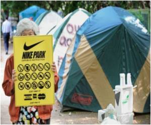 'Nike Park' Project Held Up By Protesters in Tokyo