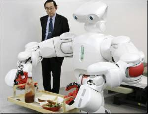 Japan Unveils Housework Robot to Aid Growing Elderly People