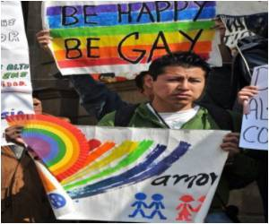 Celebration Of A Year Of Marriages At Gay Pride March
