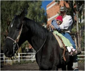 In Rough Mexico City Neighborhood, Horses Bring Relief