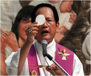 Philippine Bishop Points a Finger at Santa