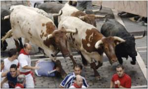 More Than a Million Expected for Spain's Famous Bull Run Festival
