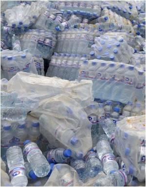Bottled Water Discarded in Swedish City