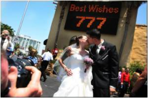 Vegas Couples Hope Sevens Will Be Lucky Wedding Day