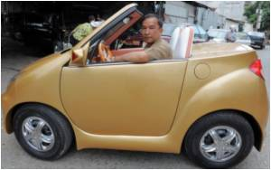 'Telepathic' Car Symbolizes Cambodian Car Industry Hopes