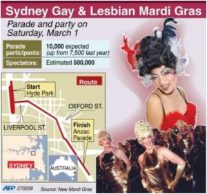 Australia's Gay Mardi Gras Expected to Attract Huge Crowds