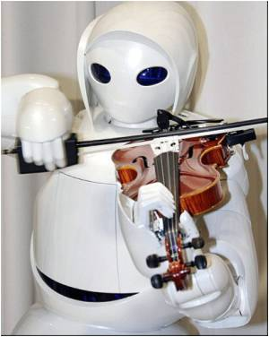 Violin-Playing Caretaker-Toyota�s New Robot Unveiled