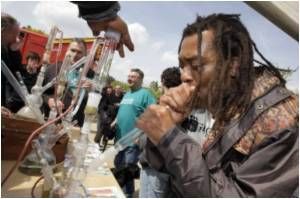 Protesters Gather In Amsterdam Favoring Legalisation Of Marijuana