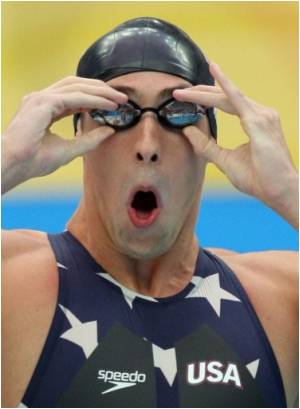 Swimmer Phelps' Phenomenal Run may Be Traced to Pasta, Pizza