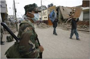 Peru's Quake-hit People Suffer from Breathing Problems Due to Floating Dust