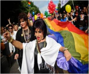 Revellers Cram Madrid in Gay Parade