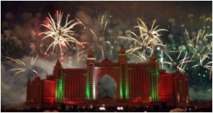 In Dubai New Year Lights for World's Tallest Building