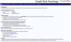 Researchers Develop New Website That Calculates Risk of Dying