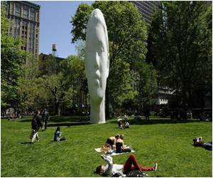 New Yorkers Amazed by Monumental 'Echo' Sculpture