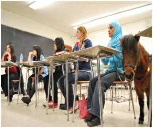 Blind Muslim Woman Goes to US College Thanks to Guide Pony