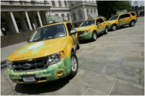 Yellow Cabs Turn Hybrid in US