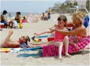 Kids Less Likely to Use Sunscreen