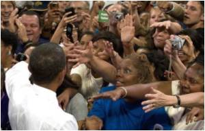Obama Woos Supporters at Massive Health Care Rally
