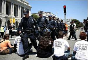 175 Arrested at California Gay Marriage Ban Protest