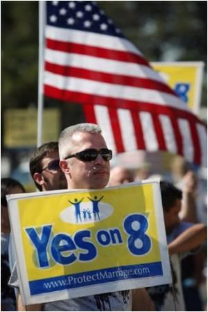 California Bans Gay Marriage