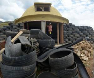 Colombian Environmentalist Transforms Used Tires into Eco-Friendly Houses