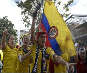 Columbia�s Win in World Cup Boosts Spirits Ahead of Presidential Runoff