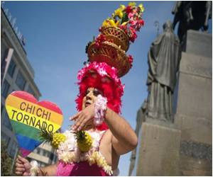 Thousands March in Fancy Dresses in Prague Gay Pride Parade