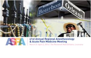 Los Angeles to Host the 41st Annual Regional Anesthesiology and Acute Pain Medicine Meeting