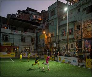 'World First' Unique Floodlights Unveiled by Rio Slum